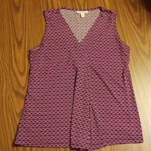 Dana Buchman sleeveless M top.  Pink purple